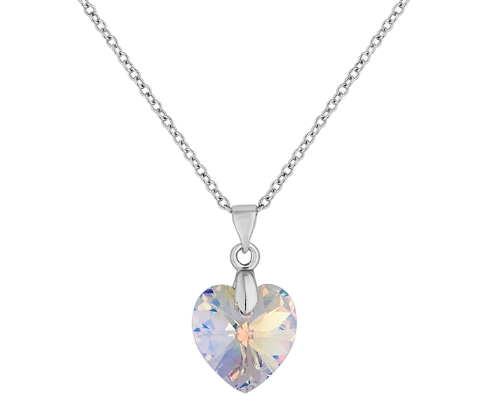 Large Heart Pendant, Clear (AB)